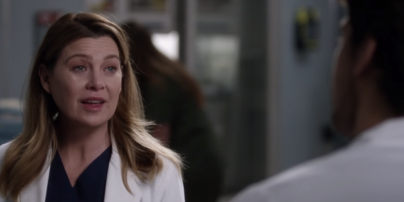 Ellen Pompeo wearing a white shirt: Grey's Anatomy fans react to Meredith Grey and Andrew DeLuca relationship drama.