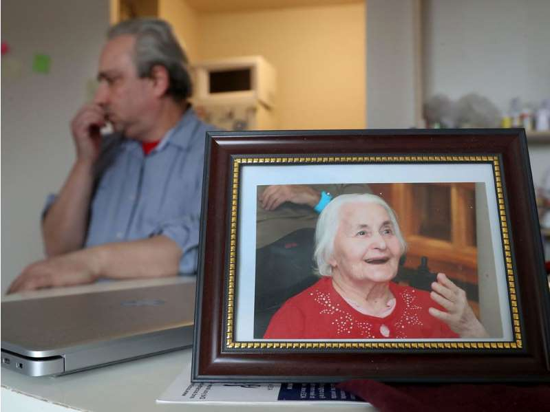 a man and a woman looking at the camera: Yuriy Hillyer poses for a photo in Ottawa Thursday Feb 6, 2020. Yuriy Hillyer's mother, Maia Giller, was a resident of Hillel Lodge but the lodge refused to admit her back after she was released from an overnight hospital stay last September. She has since died and Yuriy has lodged complaints about the Lodge's actions.