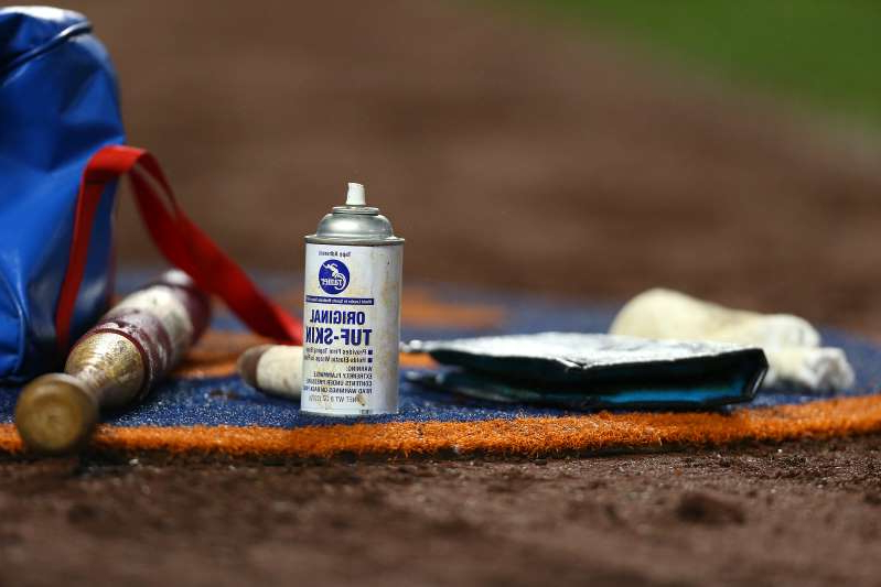 a close up of a toy: MLB believes pitchers are using foreign substances to gain an edge. (Photo by Rich Schultz/Getty Images)