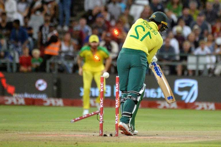 a crowd of people watching a baseball game: Quinton de Kock was named South Africa ODI captain in January