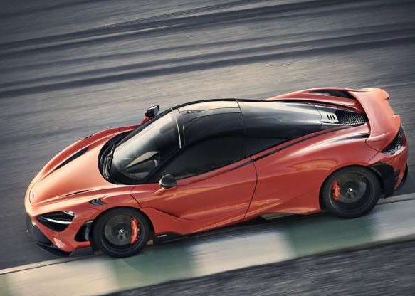 a black and red car parked on the side of a road: McLaren's latest addition to its Longtail series of cars is the 765LT.