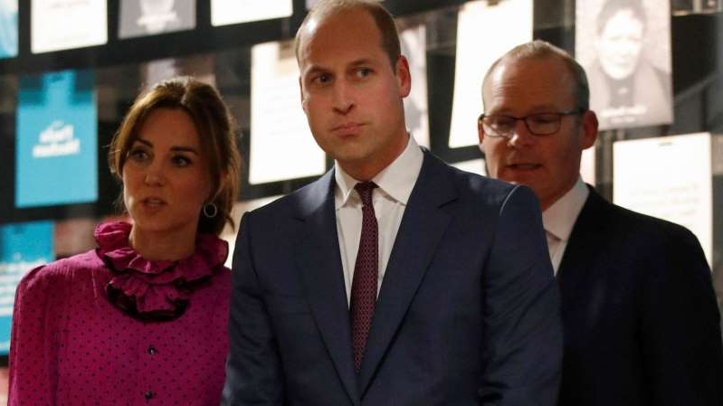 Simon Coveney, Prince William, Duke of Cambridge, Catherine, Duchess of Cambridge are posing for a picture: The royals attended a reception hosted by Ireland's deputy prime minister