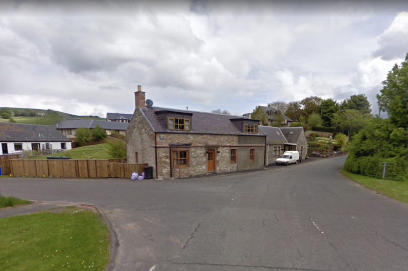 a sign on the side of a road: The incident took place in the village of Ashkirk on Friday evening