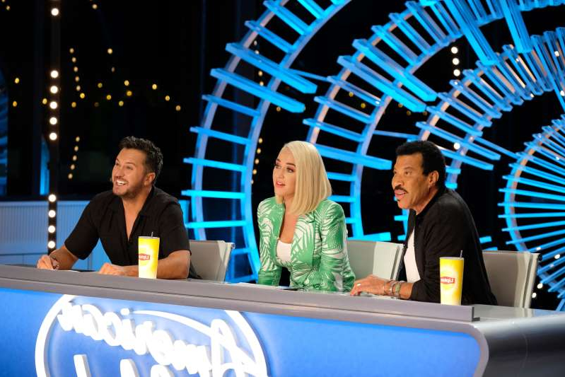 AMERICAN IDOL - American Idol returns to ABC for season three on SUNDAY, FEB. 16 (8:00-10:00 p.m. EST), streaming and on demand, after dominating and claiming the position as Sundays No. 1 most social show in 2019. Returning this season to discover the next singing sensation are music industry legends and all-star judges Luke Bryan, Katy Perry and Lionel Richie, as well as Emmy®-winning producer Ryan Seacrest as host. Famed multimedia personality Bobby Bones will return to his role as in-house mentor. (Eliza Morse/ABC via Getty Images) LIONEL RICHIE, KATY PERRY, LUKE BRYAN