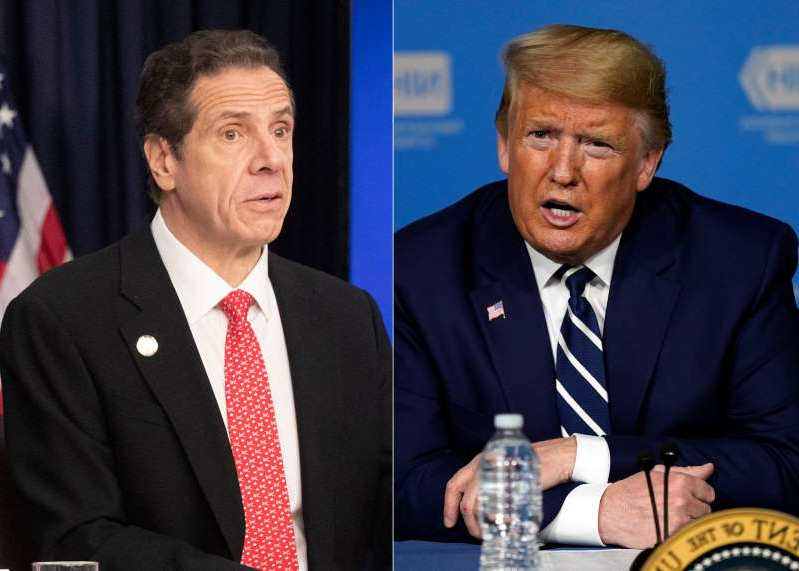 Donald Trump, Andrew Cuomo are posing for a picture