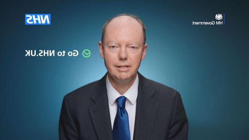a man wearing a suit and tie: England's chief medical officer Professor Chris Whitty advises Britons in the TV adverts