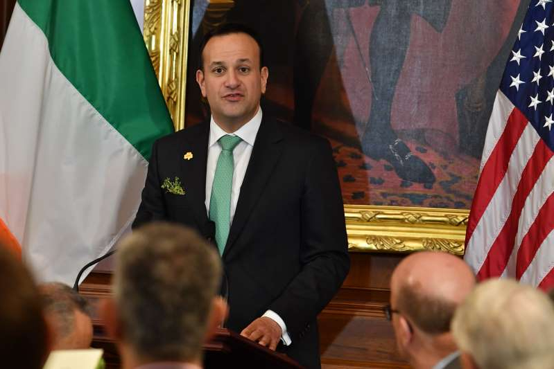 Ireland's Prime Minister Leo Varadkar speaks as Congress hosts the Annual Friends Of Ireland Luncheon on March 12, 2020, in Washington, DC. (Photo by Nicholas Kamm / AFP) (Photo by NICHOLAS KAMM/AFP via Getty Images)