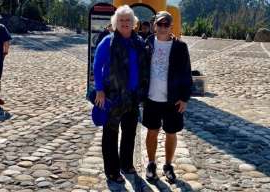 a couple of people that are standing in the sand: Retired Winnipeg couple Louis and Lynda Richard have been stuck in Ecuador since the Central American nation barred international flights amid the COVID-19 pandemic.