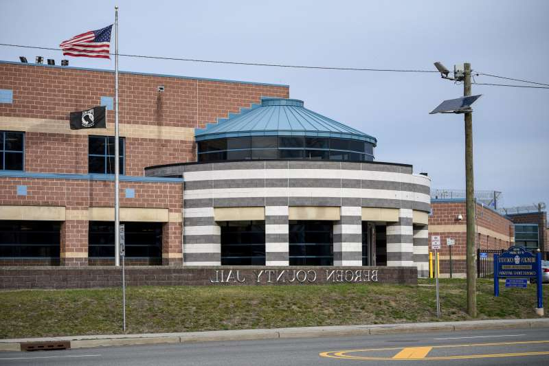 the roof of a building: An exterior photo of Bergen County Jail in Hackensack on Saturday March 14, 2020.