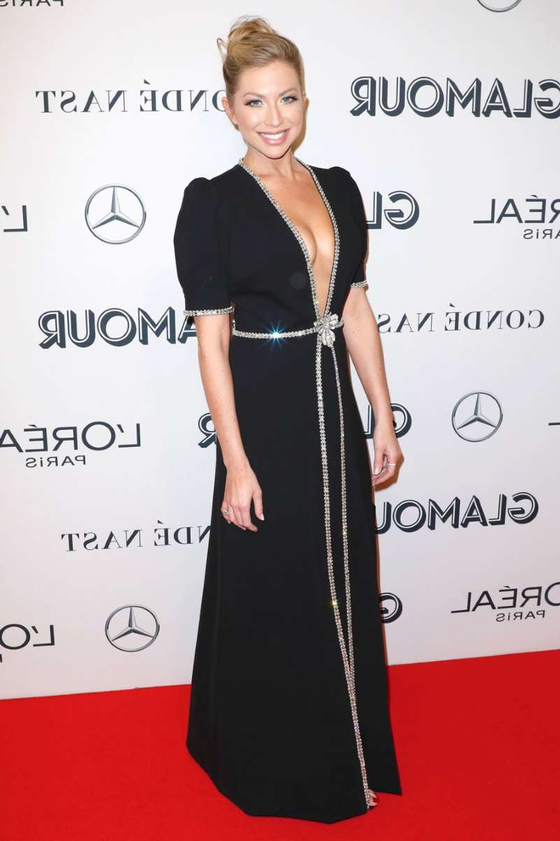 Stassi Schroeder with collar shirt: Stassi Schroeder attends the Glamour Women of the Year Awards on November 11, 2019 in New York City.