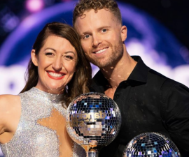 Jarryd Byrne posing for the camera: The Dancing With The Stars Australia winner for 2020 has been revealed, with Christian Wilkins, Claudia Karvan, Celia Pacquola and Ed Kavalee all battling it out during the finale episode.