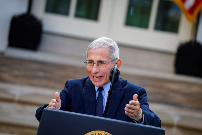 NIH National Institute of Allergy and Infectious Diseases Director Anthony Fauci speaks during a news conference in the Rose Garden of the White House in Washington, U.S., March 29, 2020. REUTERS/Al Drago