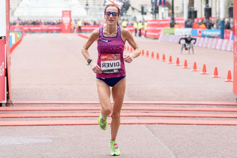 Sinead Diver finishes seventh at the 2019 Virgin Money London Marathon on April 28, 2019 London, England (Photo by Robin Pope/NurPhoto via Getty Images)