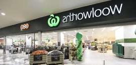 a store inside of a building: Woolworths