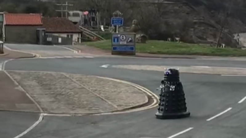 a car parked on the side of a road: The Dalek was spotted patrolling the streets. Pic: Louise Parker