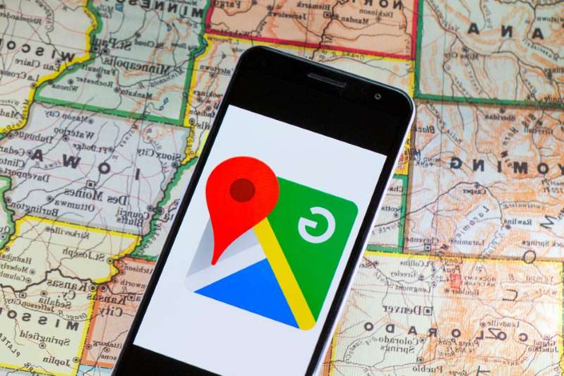 a close up of a map: Google Maps has a new handy feature. Angela Lang/CNET