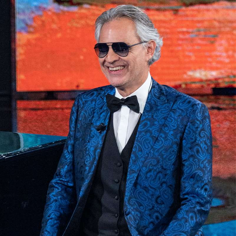 Andrea Bocelli wearing a suit and tie: Andrea Bocelli is set to