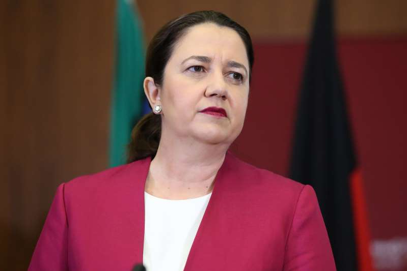 Queensland Premier Annastacia Palaszczuk attends a press conference at parliament house on March 25, 2020 in Brisbane. (Photo by Jono Searle/Getty Images)