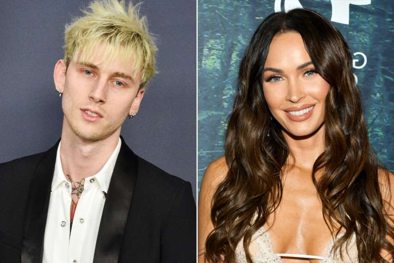 Megan Fox, Machine Gun Kelly are posing for a picture