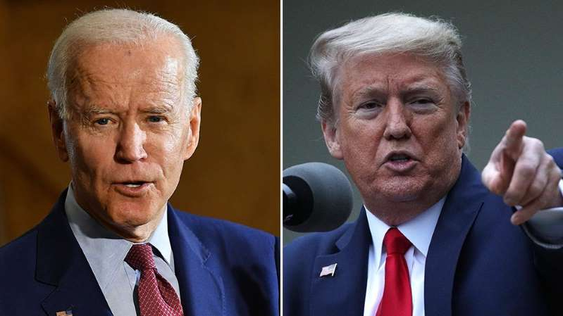 Donald Trump, Joe Biden are posing for a picture: Trump campaign: Biden remarks about black people