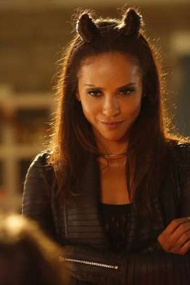 Lesley-Ann Brandt looking at the camera: Lesley-Ann Brandt plays the fiesty demoness Mazikeen in the Fox show Lucifer Lucifer/Fox