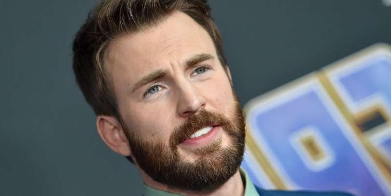 a close up of Chris Evans: During an appearance on the Hollywood Reporter's