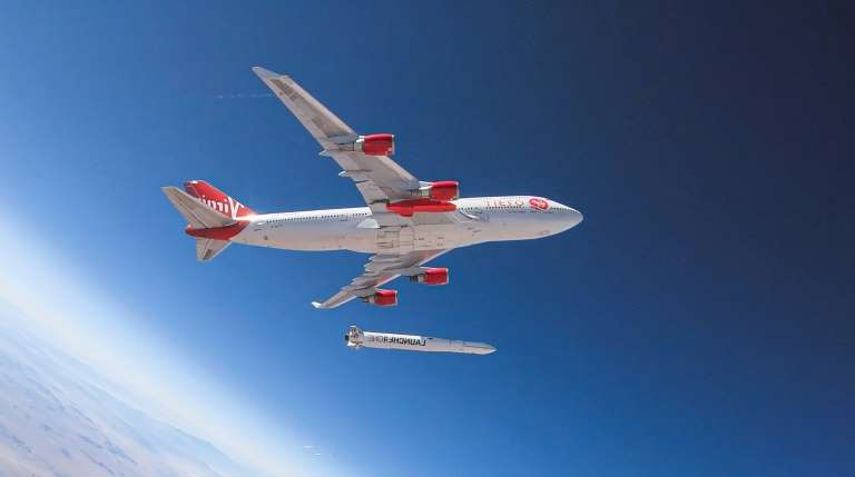 Test de LauncherOne de Virgin Orbit réalisé en juillet 2019