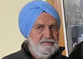 a man wearing a hat: Delta Police on Sunday discovered the body of missing 88-year-old man Jarnail Sanghera of North Delta in a wooded area off Swenson & Nordel Way.