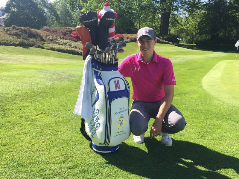 a man standing on top of a grass covered field: Pro golfer Matt Fitzpatrick has helped The Children's Hospital Charity buy specialist ventialtor equipment (TCHC/PA)