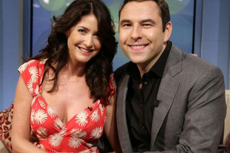 David Walliams, Lisa Snowdon posing for a picture: David and Lisa had a relationship on and off-screen