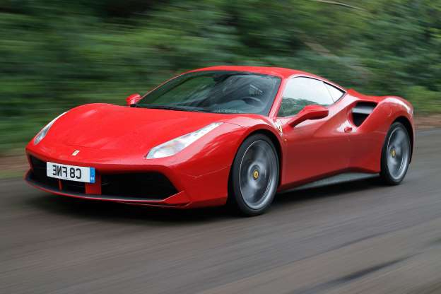 a black and red toy car on the road: Road test rewind: Ferrari 488 GTB