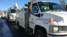 a truck is parked in a parking lot: NB Power is asking the EUB not to implement winter and summer pricing for electricity, arguing residential customers have not been adequately consulted.