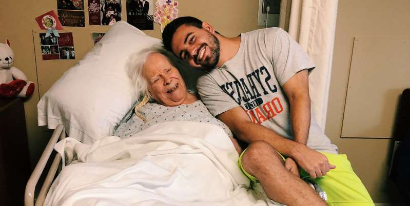 a man lying on a bed: I learned so much after my grandmother was diagnosed with Alzheimer's. The disease took her from me, but taught me lessons I'll never forget.
