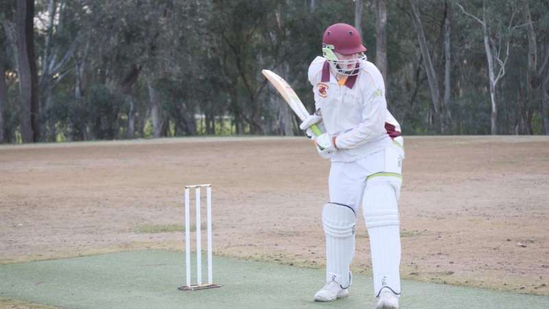 a person holding a baseball bat: Bradman is living up to his name with the bat (ABC Central Victoria: Beth Gibson)