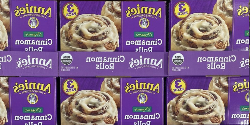 a bunch of pasta: Costco sells boxes of Annie's cinnamon rolls for just $9.99 that come with 15 rolls and icing.