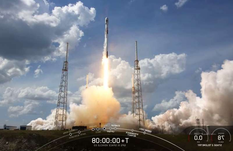 a steam engine on a cloudy day: SpaceX sends third next-gen GPS III satellite into orbit for Space Force
