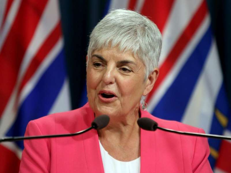 B.C. Finance Minister Carole James announced Thursday that the government is boosting the climate action tax credit in a one-time increase to help cover costs in the ongoing COVID-19 pandemic.