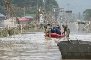 Two deaths and 16 deaths presumed in torrential rains in Japan