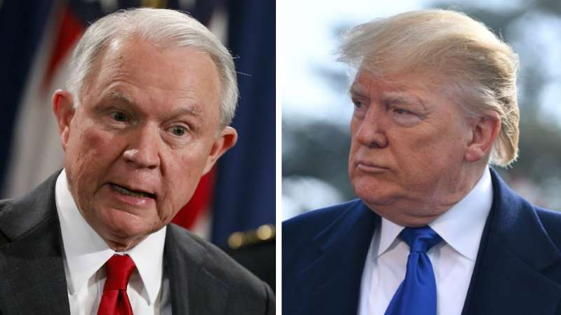 Donald Trump, Jeff Sessions are posing for a picture: Sessions hits back at Trump days ahead of Alabama Senate runoff