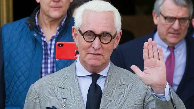Roger Stone wearing a suit and tie