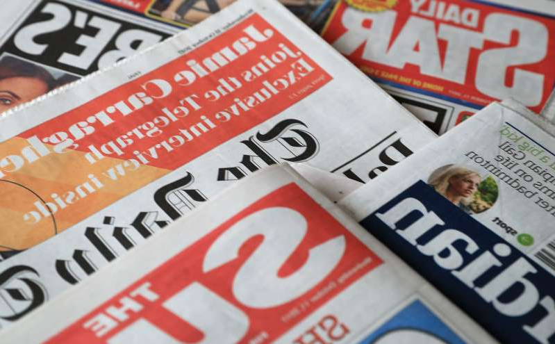 a close up of a newspaper: What the papers say – July 13