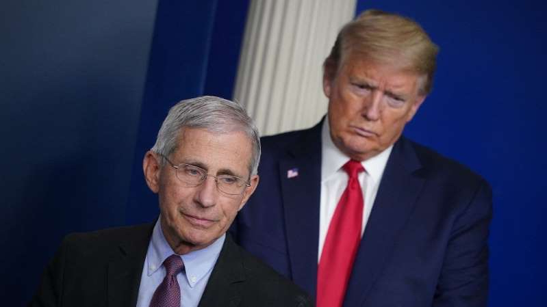 Donald Trump, Anthony S. Fauci are posing for a picture: Overnight Health Care: White House goes public with attacks on Fauci | Newsom orders California to shut down indoor activities, all bar operations | Federal judges block abortion ban laws in Tennessee, Georgia