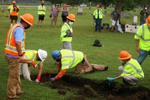 Tulsa race massacre mass graves search begins with excavation at Oaklawn Cemetery