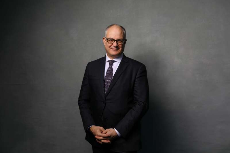 Roberto Gualtieri wearing a suit and tie: Day Three Of The World Economic Forum (WEF) 2020