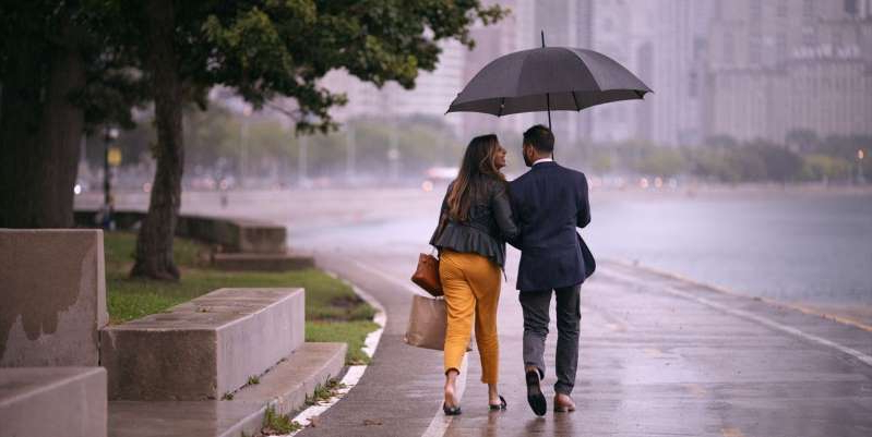 a person walking in the rain holding an umbrella: Netflix' relationship docuseries 'Indian Matchmaking' follows young men and women looking for their future spouse, but which couples are still together now?