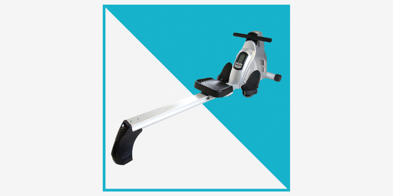 a close up of a logo: As an Amazon daily deal, Velocity Exercise's Magnetic Rower is on sale for a short time only. Learn more about this awesome home gym equipment deal .