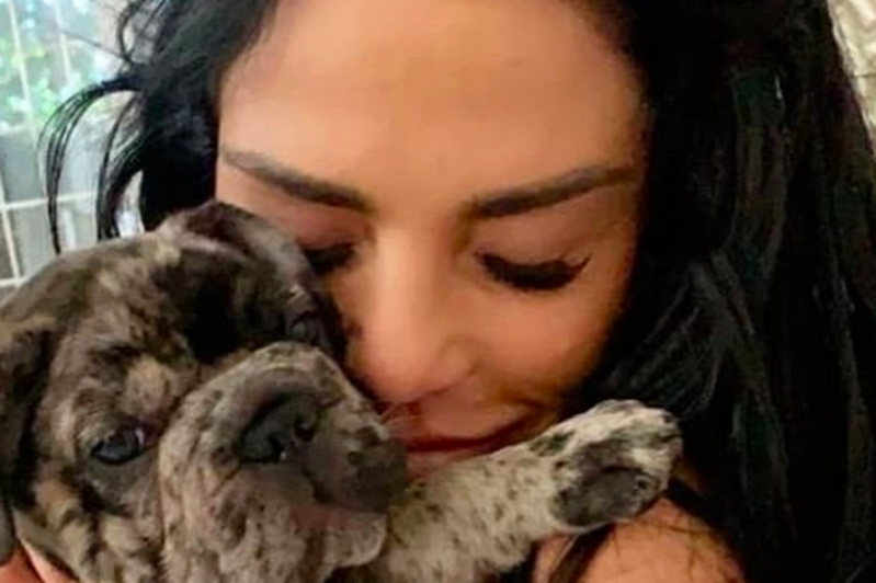 a person holding a dog: Katie Price has been left devastated over the sudden death of Princess' puppy