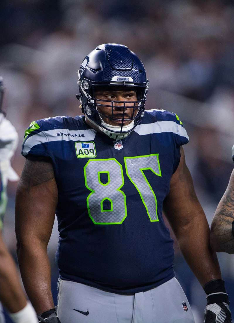 Seattle Seahawks guard D.J. Fluker (78) in action during an NFC Wild Card playoff football game against the Dallas Cowboys.