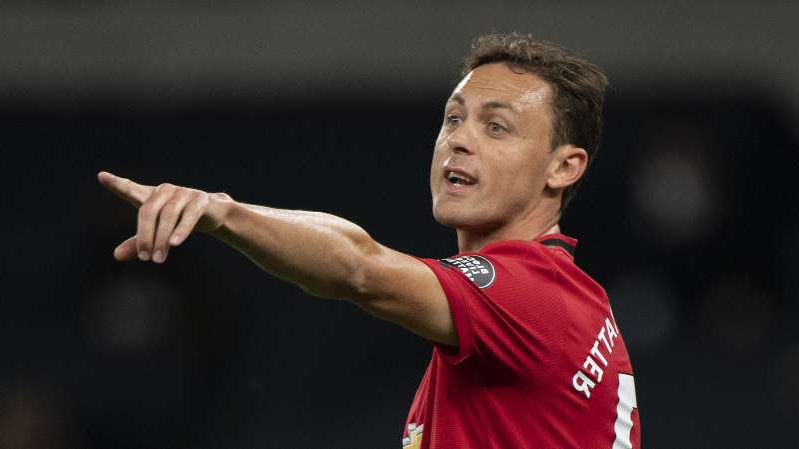 Nemanja Matic wearing a blue shirt: Nemanja Matic points the way forward for Manchester United