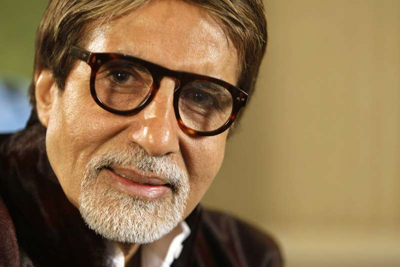 FILE - In this Nov. 10, 2009 file photo, Bollywood superstar Amitabh Bachchan speaks during an interview in London. Bachchan was discharged from a Mumbai hospital on Sunday after undergoing two weeks of treatment for the coronavirus.(AP Photo/Alastair Grant, File)